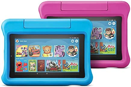 Fire 7 Kids Edition Tablet 2-Pack, 16 GB, Blue/Pink Kid-Proof Case