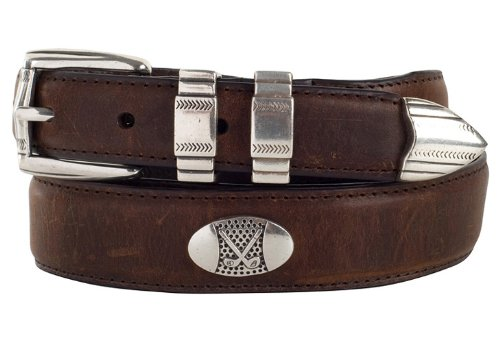 Danbury Oil Tanned Leather Concho Golf Belt 40 - Concho Golf Belts