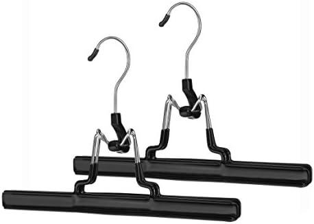 Whitmor Skirt and Slack Hanger Set of 2 Chrome / Black