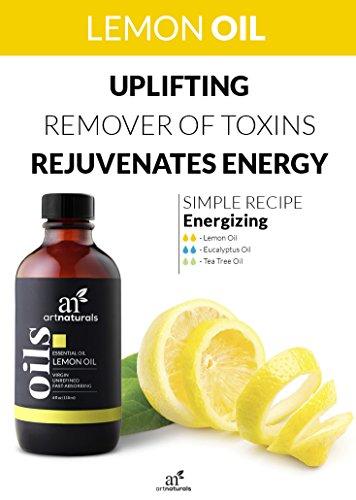 ArtNaturals Therapeutic-Grade Lemon Essential Oil - Pure and Natural -  Includes Our Aromatherapy Signature Zen and Chi Blends - 4 Fl Oz