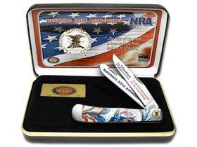 CASE XX National Rifle Association NRA Star Spangled Banner Corelon Trapper Pocket Knife Knives by CASE XX
