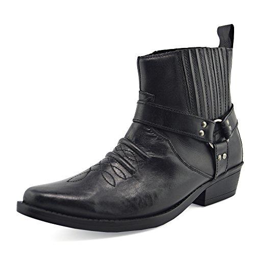 Stivali Nero Biker Kick Pelle Footwear Boots Cowboy In da Mens cowboy Uomo Stivaletti r7grz