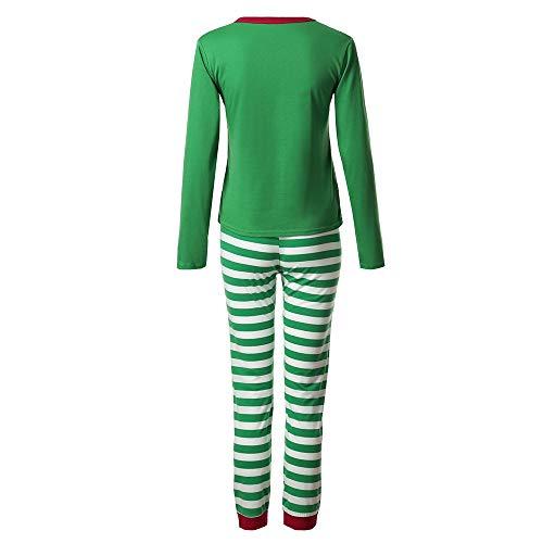 In A Camicia Pigiama Stampato 2 Ragazzi 2pcs Maniche Lunghe Verde Da RighePantaloni Felpa Cotone Natale Set Longra Costume Top Di ragazzeDonne uomo pUVLqjSzMG