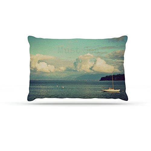 Kess InHouse Robin Dickinson Must Sea  Fleece Dog Bed, 50 by 60 , Ocean