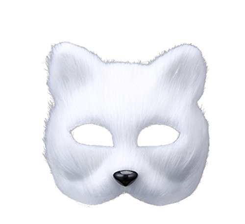 Duidress Full Face Halloween Cute Animal Mask Head Feather Theater Prop Party Mask Christamas
