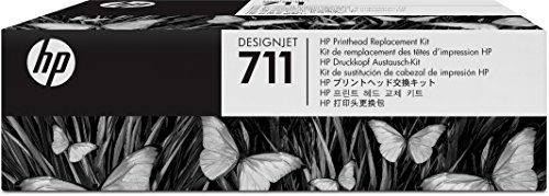 Printhead Inks Printer (HP 711 Designjet Printhead Replacement Kit (C1Q10A) for HP DesignJet T120 24-in Printer HP DesignJet T520 24-in Printer HP DesignJet T520 36-in PrinterHP DesignJet printheads help you respond quickly by providing quality speed and easy hassle-free printing)