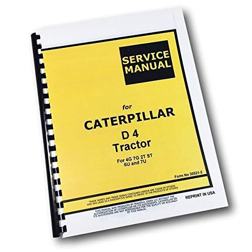Cat Caterpillar D4 Tractor Service Repair Manual Shop Book 4G 7G 2T St 6U 7U