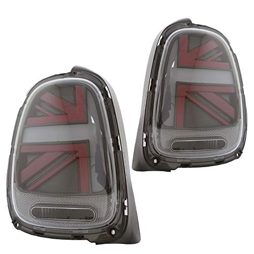 Helix Mini Cooper F55 F56 F57 LED Union Jack Taillights - Clear Lens