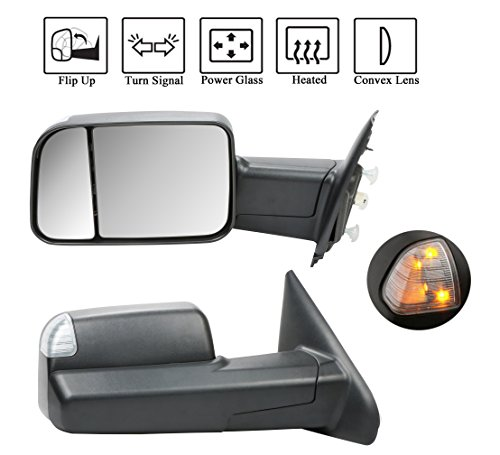 2002-2008 Dodge Ram Extend Flip-Up POWER+HEATED Towing Mirrors Left+Right
