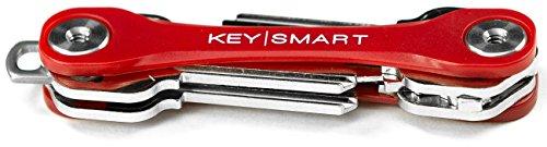 KeySmart Lite   Compact Key Holder and Keychain Organizer (2-8 Keys, Red)