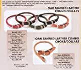Coastal Pet Circle T Oak-Tanned Rolled Leather Dog Collar | Black Color | 3/4' Width by 18' Girth