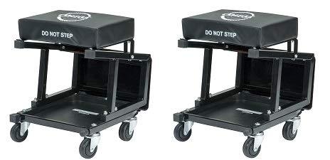 Omega Lift 91305 Omega Lift 2-in-1 Mechanics Creeper Seat/Step Stool, 7.88'' Height, 17.72'' Width, 15.75'' Length (2-(Pack))