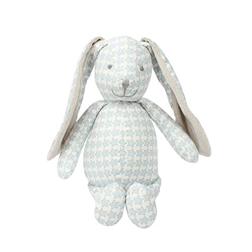 BELUPAID Cute Calico Stuffed Bunny Doll Toys, Printing Soft PP Cloth Toy Cuddly Animals Dolls Floppy Ears Cuddly Rabbit Best Birthday Gift Easter Gifts for Baby Kids Children Present by BELUPAID