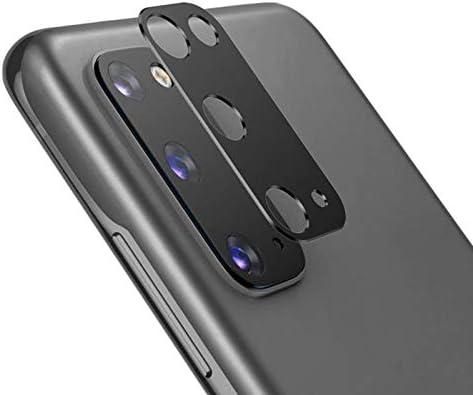 NOKOER Camera Lens Protector voor Samsung Galaxy S20 2 Pack Camera Lens Protector Ring Cover hoogwaardig metalen materiaal antival Slijtvast 360 graden beschermingzwart