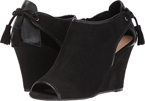 CL by Chinese Laundry Women's Brinley Wedge Pump, Black Suede-Snake, 7.5 M US