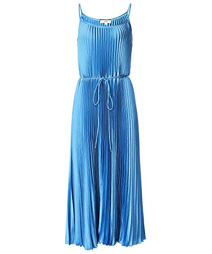 Vince Women's Pleated Cami Dress, Blue Pumice, Large from Vince