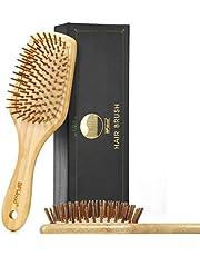 BFWood Haarborstel voor het ontwarren van dik en krullend haar.
