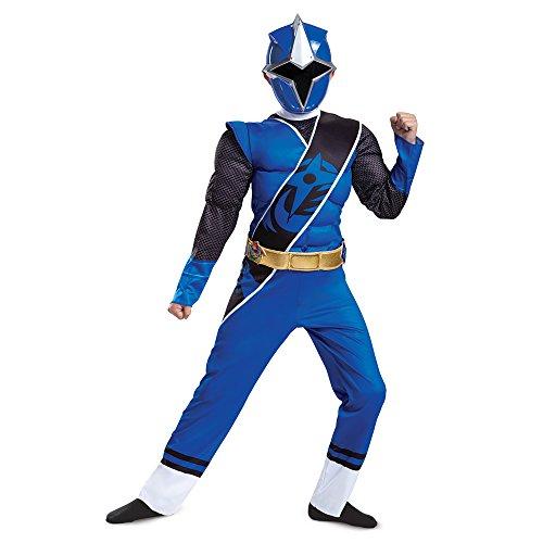 Power Rangers Ninja Steel Muscle Costume, Blue, Small (4-6)