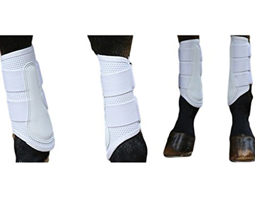 Professionals Choice Boots Pro Mesh Double Hook Loop TPU L White PMSB ()