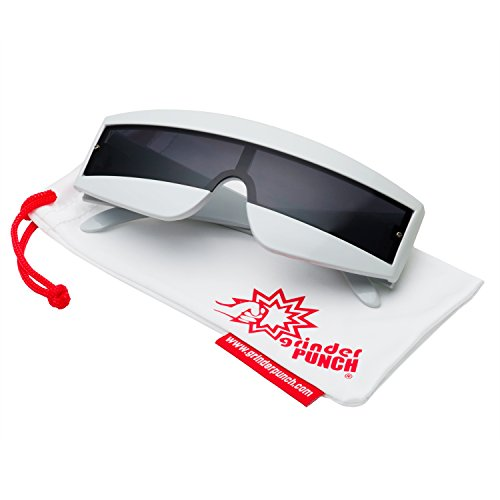 grinderPUNCH Futuristic Cyclops Color Mirrored Lens Visor Sunglasses - Galss Sun
