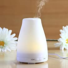 Leelbox Essential Oil Diffuser,100ml Aromatherapyl Diffuser Ultrasonic Cool Mist Humidifier with 7 Color LED Lights Changing and Auto Shut-off Function for Home, Office, Yoga Room, Studio