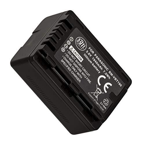 BM Premium VW-VBT190 Battery for Panasonic HC-V380, HC-V510, HC-V520, HC-V550, HC-V710, HC-V720, HC-V750, HC-V770, HC-VX870, HC-VX981, HCW580, HCW850, HC-WXF991 Camcorders