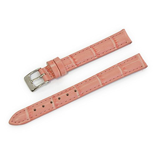 (CASSIS Donna Croco Calf Genuine Alligator Embossed Calf Leather 11mm Pastel Pink with Tool D0000312287011M)