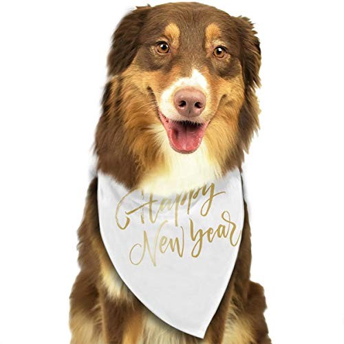 Pet Scarf Dog Bandana Bibs Triangle Head Scarfs Happy New Year Accessories for Cats Baby Puppy]()