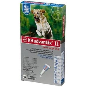 Bayer K9 Advantix II (Over 55-lbs) 4-doses
