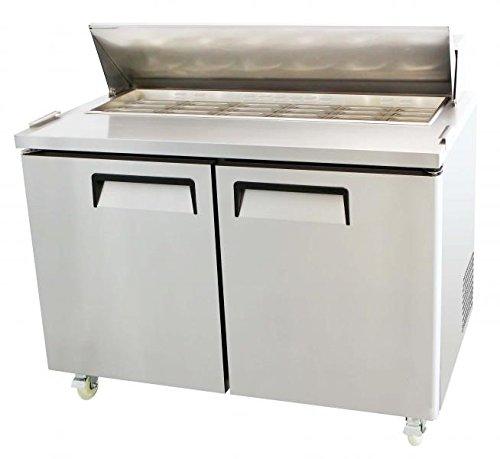 2 Door Refrigerated Sandwich Table - Salad Sandwich Mega Top 18 Pan Prep Table 48
