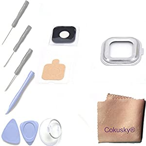 Cokusky® Back Camera Frame Holder Glass Lens with Frame Adhesive Repair for Samsung Galaxy S6 Active G890A