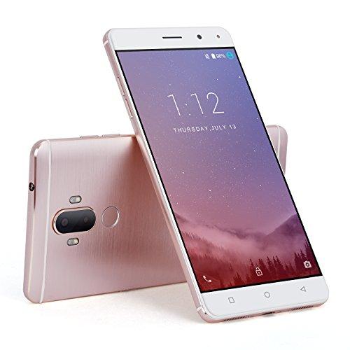 419ba4GbK-L Xgody Unlocked Android 7.0 Smartphones Y19 16GB+2GB 6.0 Inch Fingerprint 4G FDD-LTE Quad Core 1.3GHz Dual SIM with GPS Wi-Fi Bluetooth Telefonos Android Desbloqueados Rosado (Pink).