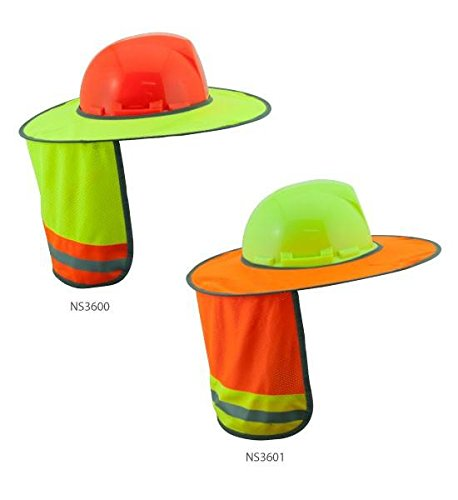 3A SAFETY HARD HAT SUN SHIELD - LIME - (Lime Shield)