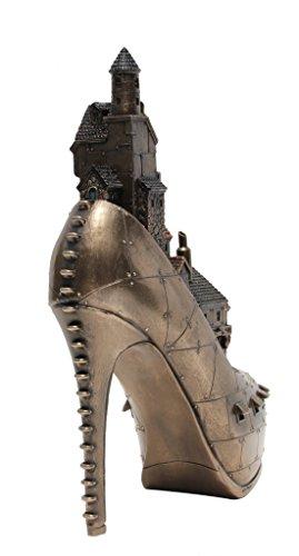 Steampunk Stiletto Hill Ironopolis Cold Cast Bronze 10 Inch Tall 5