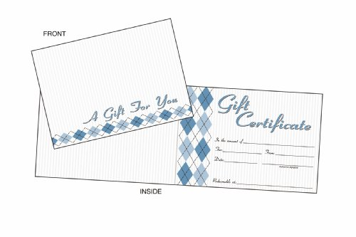 Adams Gift Certificate Cards, 20 Folded Cards and Envelopes, 6.25 x 4.50 Inches, White (GFTCRD)