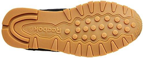 Reebok Cl Leather Tdc, Sneakers para Hombre Negro (Black/white-gum)