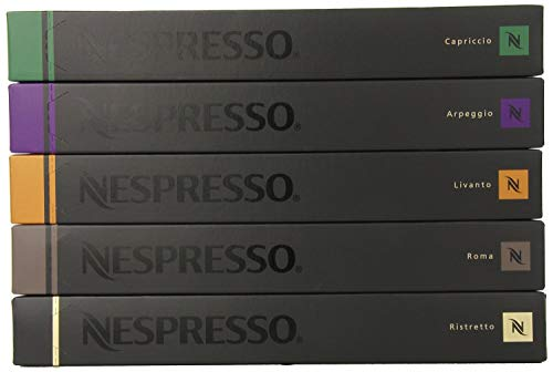 Nestle Nespresso Variety Pack for OriginalLine, 50 Capsules