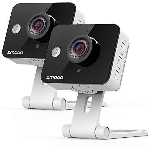 Zmodo 720p HD WiFi Wireless Smart Security Camera Two-Way Audio (2- Pack) (Hd Mini Security Cameras)