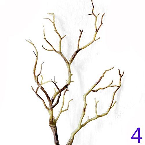 Taloyer Darkness Plastic Artificial Tree Dried Branches Plant Antlers Horns for Wedding Bouquet Party Home Hotel Venue Decoration (Coffee) (Decoration Tree Wedding)