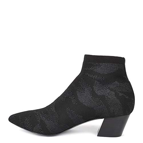 Camille Camo Footwear EU Ash Ankle Black Black Boot Print 37 Knit B55ZIqw