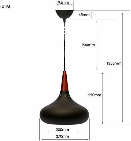 Art Deco Pendant Light Vintage Lampshades Loft Lamp Shade Retro Ceiling Coffee Bar Dining Living Room Kitchen Island Modern Hanging Lighting Fixtures LED Chandelier E27 Base 110V Black