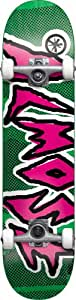 Almost Shark Bite TT Full Complete Skateboard (Green/Pink, 7.6-Inch)