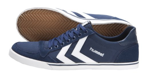 Hummel SLIMMER STADIL LOW Low Top Unisex-Adult Blue - Blau (Dress Blue/White) store clearance original Inexpensive cheap price visit cheap online under $60 online 4tbdIKnWT