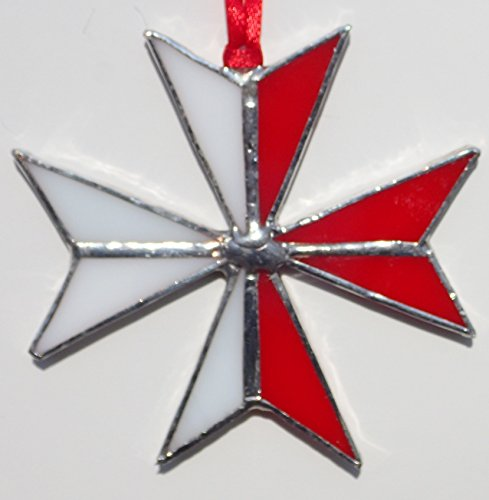 Maltese Cross Stained Glass 3