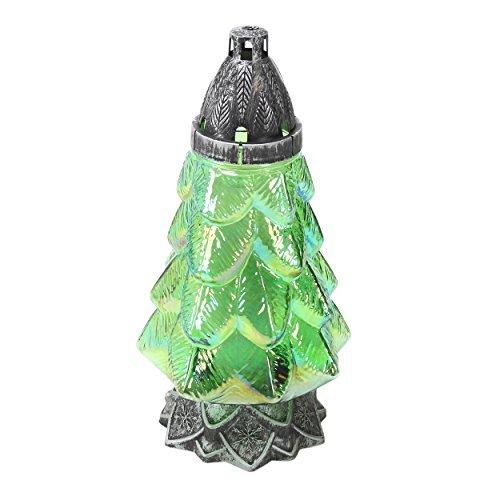 Plomyk H-4X Grablampe Weihnachten aus Glas Höhe 30cm Grün Höhe 30cm Grün