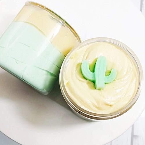 Gift for Her. Lemongrass Whipped Sugar Scrub Soap. Bath Body Polish Skincare. Cactus party favor by Sunbasil Soap
