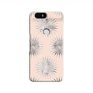 Cover It Up - Silver Pink Star Nexus 6P Hard Case