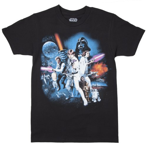 Star Wars Adult Black T shirt