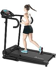 Advwin Electric Treadmill Motorised Running Exercise Machine Home Gym Incline Run Exercise Machine Folding Design Powerful Motor 10KM/H Speed 12 Training Programs LED Display