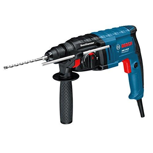 Bosch Professional GBH 2-20 D Bohrhammer mit SDS-plus (bis 20 mm Bohr-Ø, Koffer) blau, 061125A400